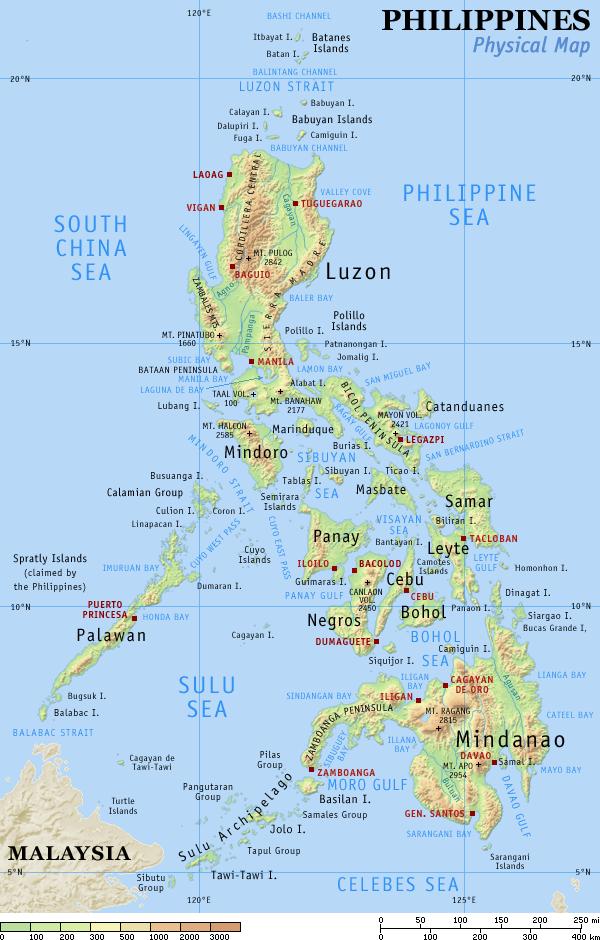 Philippines physicalmap