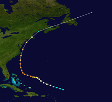 1944 Hurricane tracking map by wikipedia